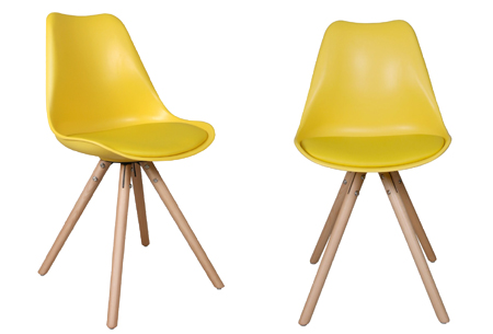Olan stoelen | Scandinavisch hoogwaardig design in 8 kleuren  geel