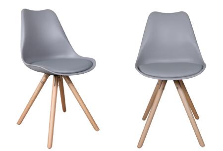 Olan stoelen | Scandinavisch hoogwaardig design in 8 kleuren  grijs