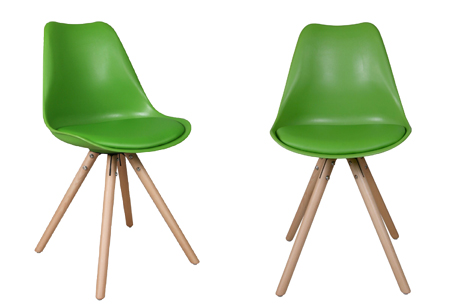 Olan stoelen | Scandinavisch hoogwaardig design in 8 kleuren  groen