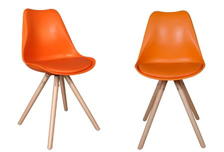 Olan stoelen | Scandinavisch hoogwaardig design in 8 kleuren  oranje