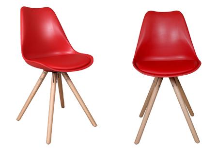Olan stoelen | Scandinavisch hoogwaardig design in 8 kleuren  rood