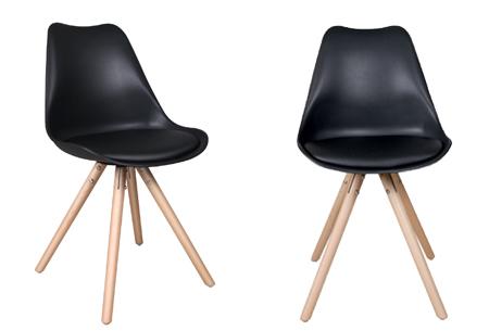 Olan stoelen | Scandinavisch hoogwaardig design in 8 kleuren  zwart