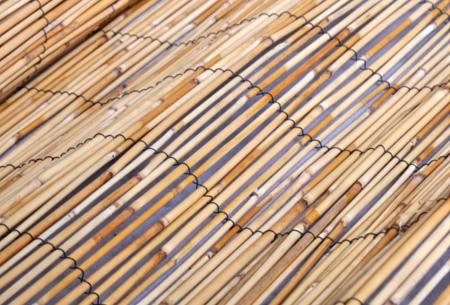 Hek van bamboe, wilgen of riet | Een natuurlijke tuinafscheiding met een tropisch tintje