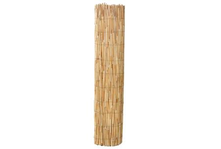 Hek van bamboe, wilgen of riet | Een natuurlijke tuinafscheiding met een tropisch tintje Rieten hek