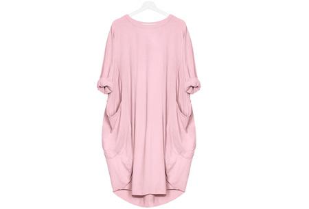 Comfy pocket dress | Stijlvol en heerlijk comfortabel Roze