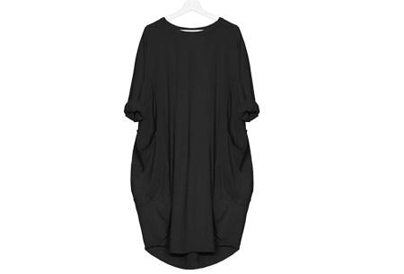Comfy pocket dress | Stijlvol en heerlijk comfortabel Zwart