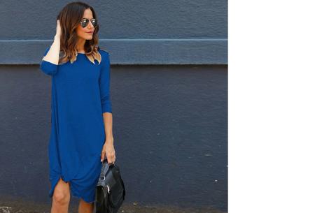 Knotted maxi jurk | Comfortabele musthave voor dit seizoen Blauw