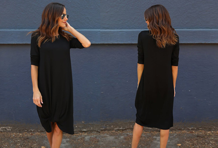 Knotted maxi jurk | Comfortabele musthave voor dit seizoen Zwart