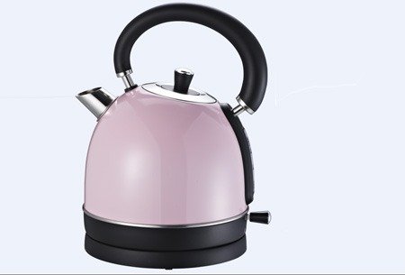 Retro waterkoker Biko | Esthetisch design met 1,8 liter inhoud roze