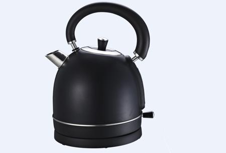Retro waterkoker Biko | Esthetisch design met 1,8 liter inhoud zwart