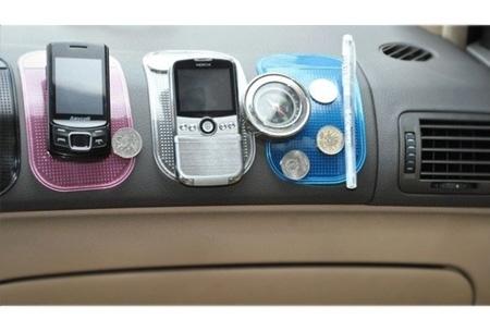 Set van vijf anti-slip kleefmatjes | Handig in de auto