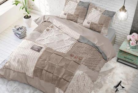 Stijlvolle en comfortabele 100% katoenen dekbedovertrekken | Verkrijgbaar in 9 voorjaarsprints Knitted home