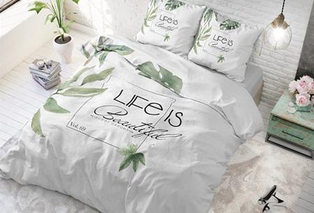 Stijlvolle en comfortabele 100% katoenen dekbedovertrekken | Verkrijgbaar in 9 voorjaarsprints Life is green