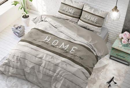 Stijlvolle en comfortabele 100% katoenen dekbedovertrekken | Verkrijgbaar in 9 voorjaarsprints Home - taupe