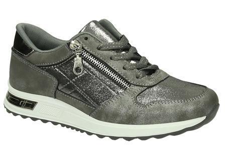 Glam sneakers voor dames | Echte eyecatchers voor een trendy & stoere look! Grijs