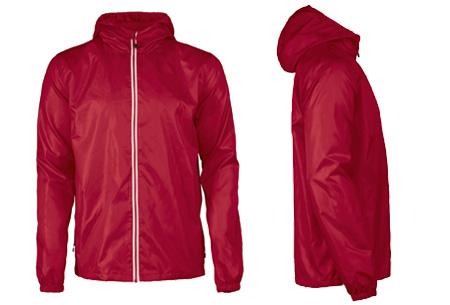 Windbreaker jackets | Winddicht en waterafstotende voorjaarsjas voor dames en heren  rood