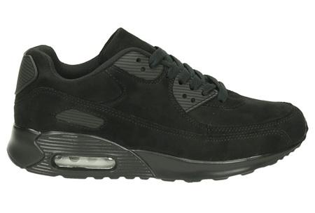 FlexAir suède look sneakers | Hippe dames sneakers met een ultieme demping & optimaal comfort zwart
