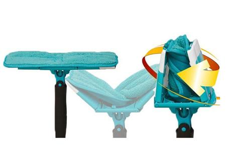 Titan Twist mop deluxe   360 graden draaibare dweil met geïntegreerd uitwringsysteem