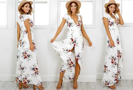 Boho v-neck dress   Voor een zomerse bohemian look