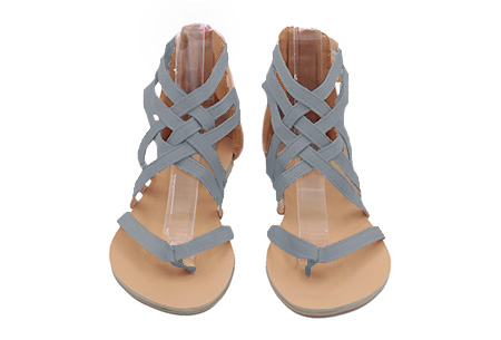 Strap sandalen | Voor de ultieme zomerse look aan je voeten  Grijs