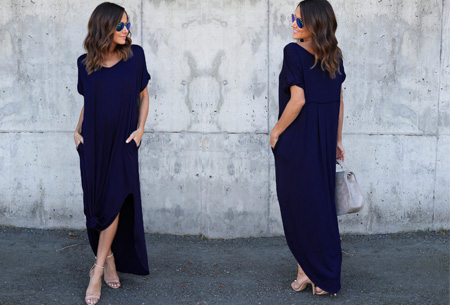 Stylish maxi jurk | De perfecte jurk voor dit seizoen Navy