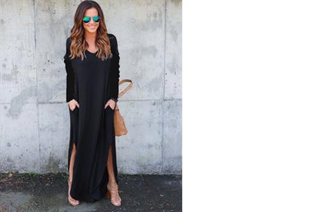 Stylish maxi jurk | De perfecte jurk voor dit seizoen Zwart