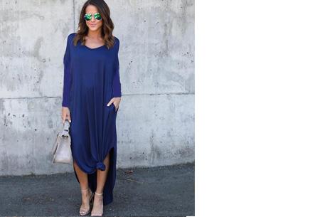 Stylish maxi jurk | De perfecte jurk voor dit seizoen Blauw