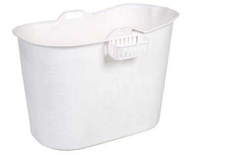 Bath Bucket mobiele badkuip | Geniet overal van een heerlijk bad! wit
