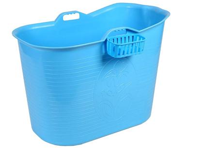 Bath Bucket mobiele badkuip | Geniet overal van een heerlijk bad! blauw