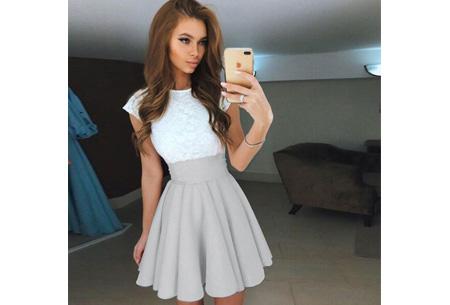 Summer lace dress Maat XL - Grijs