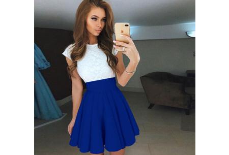 Summer lace dress Maat XL - Kobaltblauw