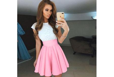 Summer lace dress Maat XL - Lichtroze