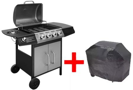 Gasbarbecue Zwart/zilver
