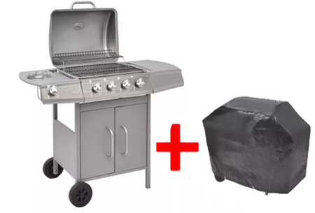 Gasbarbecue Zilver