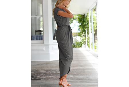 Gorgeous maxi jurk | Zomerse basic jurk met sexy touch donkergrijs
