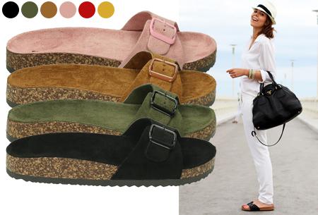 Suède look slippers
