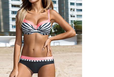 Beauty Beach bikini | Keuze uit 7 kleuren #4 Stripe pink