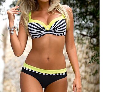 Beauty Beach bikini | Keuze uit 7 kleuren #5 Stripe yellow