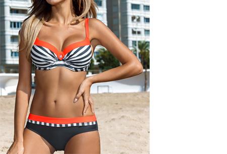 Beauty Beach bikini | Keuze uit 7 kleuren #7 Stripe orange