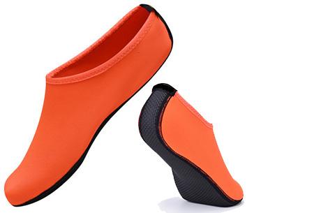 Watersokken met anti-slip zool | Bescherm je voeten  Oranje