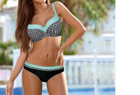 Pattern Chique bikini | Verkrijgbaar in 9 kleuren - Voor een ultieme zomerlook #1 Aztec blue