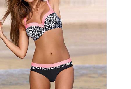 Pattern Chique bikini | Verkrijgbaar in 9 kleuren - Voor een ultieme zomerlook #2 Aztec pink
