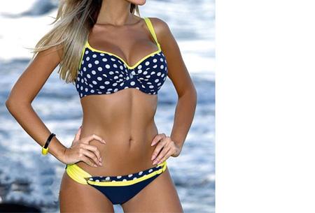 Pattern Chique bikini | Verkrijgbaar in 9 kleuren - Voor een ultieme zomerlook #7 Dots yellow