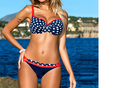 Pattern Chique bikini - Maat XS/S - #8 Dots red