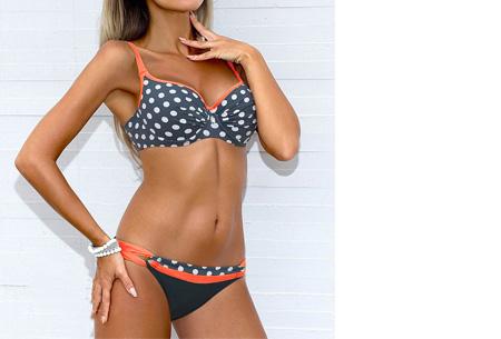 Pattern Chique bikini | Verkrijgbaar in 9 kleuren - Voor een ultieme zomerlook #9 Dots orange