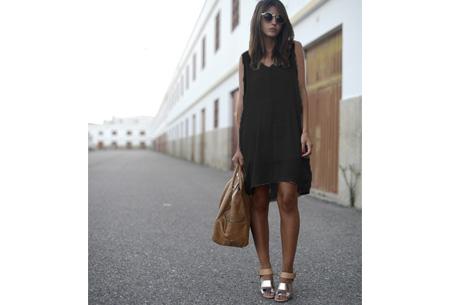 Oversized chiffon jurk | Luchtig en stijlvol zwart