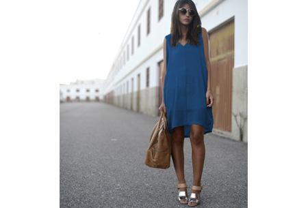 Oversized chiffon jurk | Luchtig en stijlvol blauw