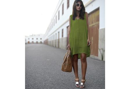 Oversized chiffon jurk | Luchtig en stijlvol groen