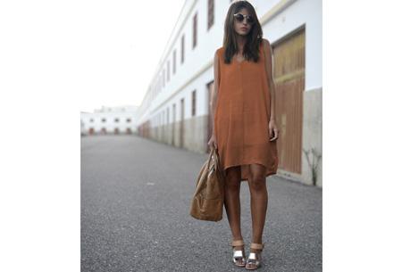 Oversized chiffon jurk | Luchtig en stijlvol oranje