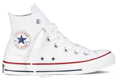 Converse All Stars outlet - hoog of laag model | MEGA UITVERKOOP, OP=OP! Wit - hoog